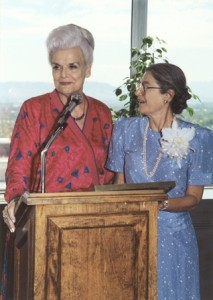 Governor Rose Mofford and Lorraine W. Frank in 1989.