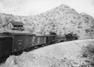 SB - JJ LAMB Arizona_Southern_Railroad_Between_Red_Rock_Silverbell_Arizona_Circa_1909