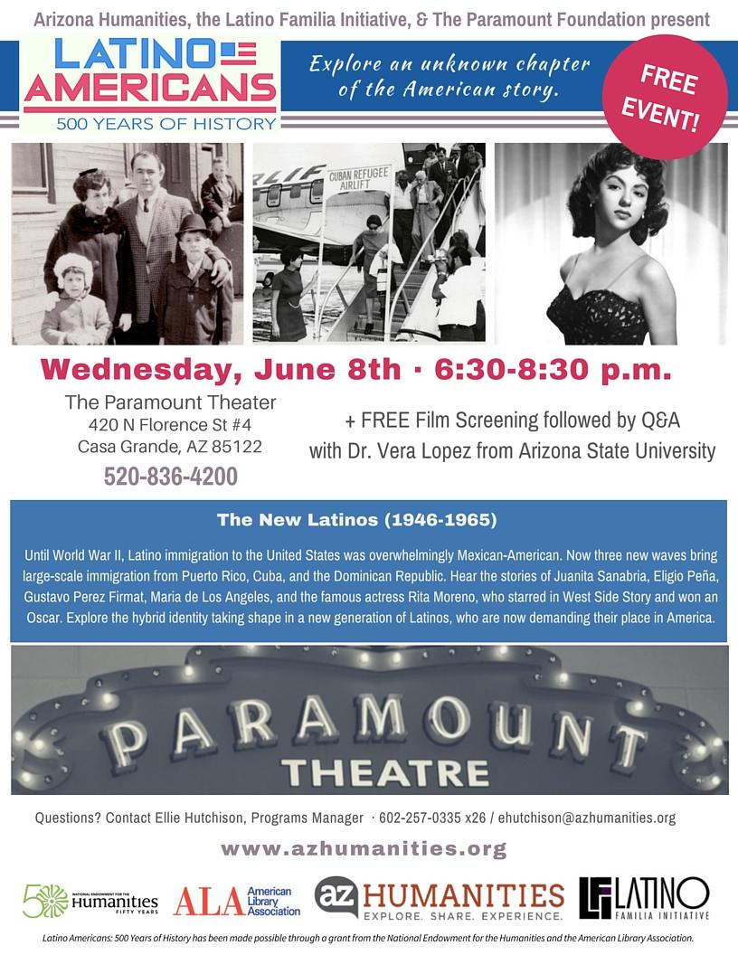Casa Grande (AZ) United States  city photos : New Latinos Film Screening In Casa Grande   Arizona Humanities
