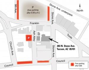 Map of Parking for Bates Mansion